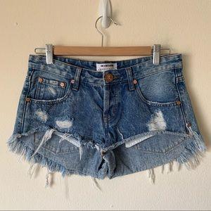One Teaspoon Distressed Denim Bonitas Shorts